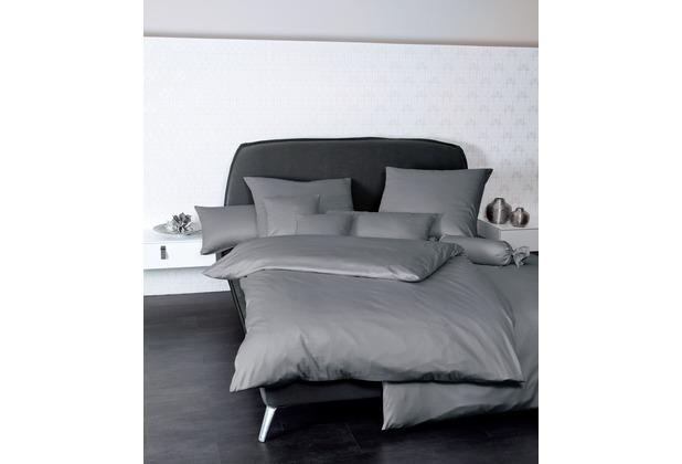 Janine Mako-Satin Colors graphit Bettbezug 135x200, 80x80