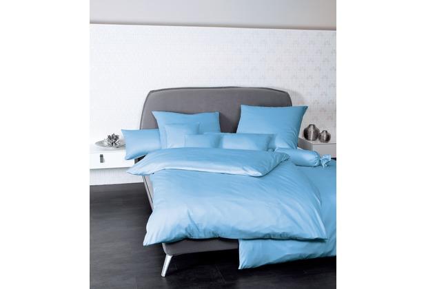 Janine Mako-Satin Colors hellblau Bettbezug 135x200, 80x80