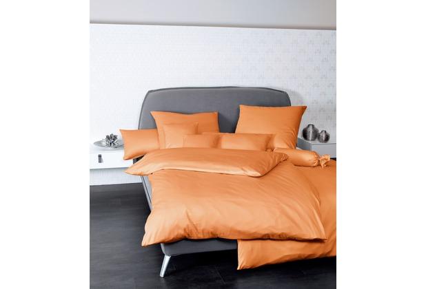 Janine Mako-Satin Colors orange Bettbezug 135x200, 80x80