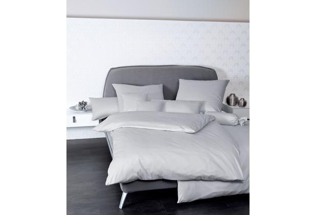 Janine Mako-Satin Colors platin Bettbezug 135x200, 80x80
