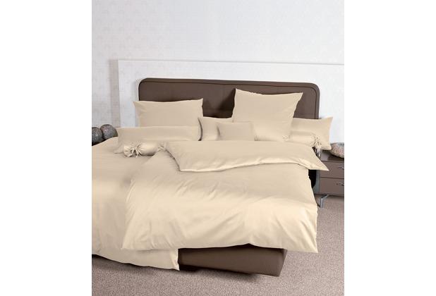 Janine Mako-Satin Colors sand Bettbezug 135x200, 80x80