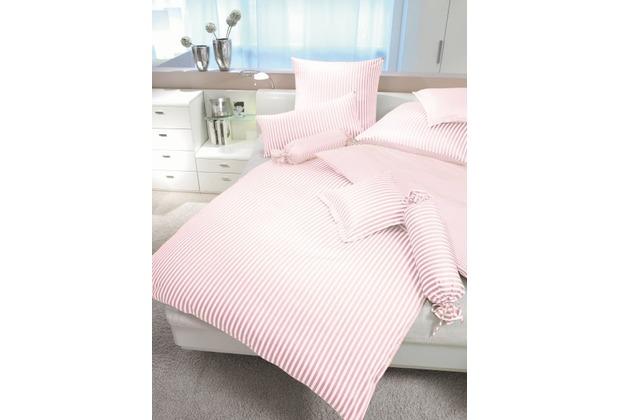 Janine Mako-Satin modernclassic rosa Bettbezug 135x200, 80x80