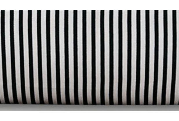 Janine Mako-Satin modernclassic schwarz Nadelstreifen Kissenbezug 40x40 mit Stehsaum