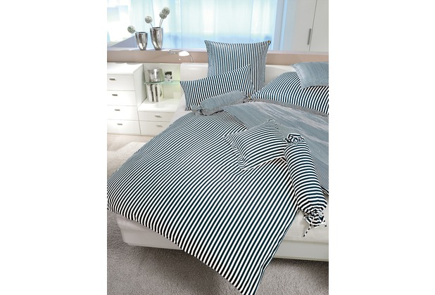Janine Mako-Satin modernclassic schwarz Bettbezug 135x200, 80x80