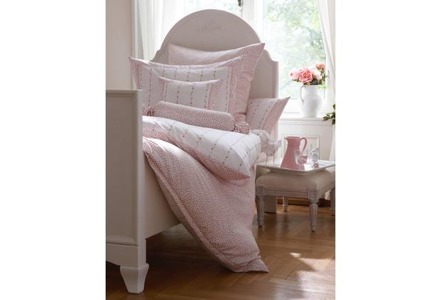 Janine Mako-Satin Romantico rosé Bettbezug 135x200, 80x80