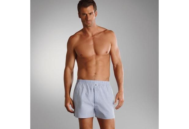 Jockey Boxer Shorts Webboxer, Kariert shirt. blue S