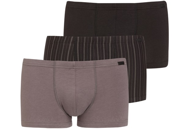 Jockey Cotton + BOXER-SHORT TRUNK-BOXER-SHORT 3PACK grey L
