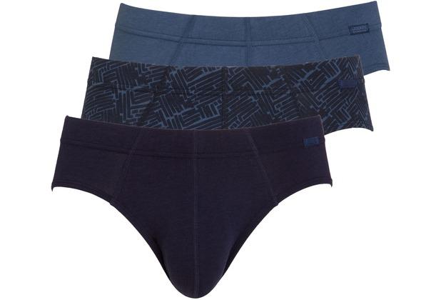 Jockey Cotton + BRIEF/SLIP/SLIP 3PACK maritime blu L