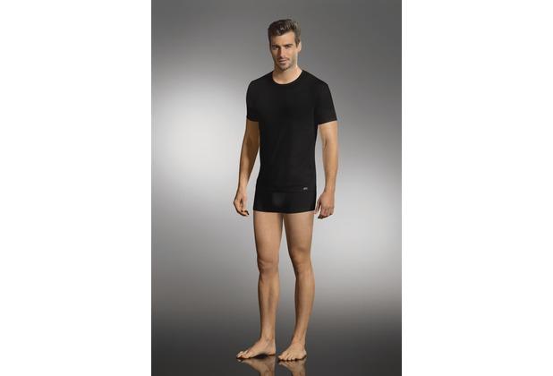 Jockey Cotton Stretch T-Shirt, rundhals 2er Pack black S