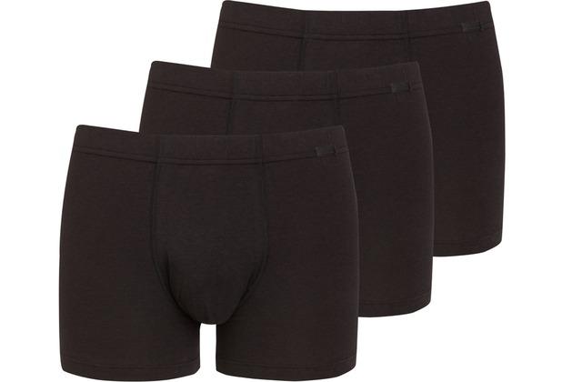 Jockey Cotton + TRUNK-BOXER-SHORT 3PACK black L