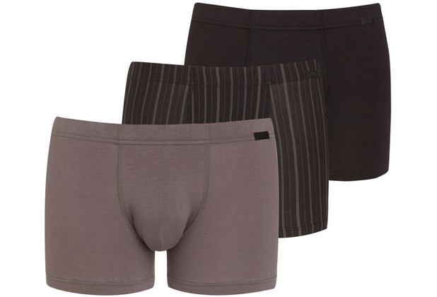 Jockey Cotton + TRUNK-BOXER-SHORT 3PACK grey L