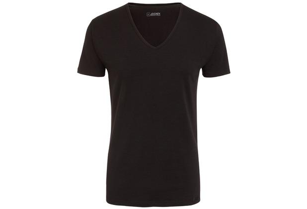 Jockey Cotton + V-SHIRT 2 PACK black L