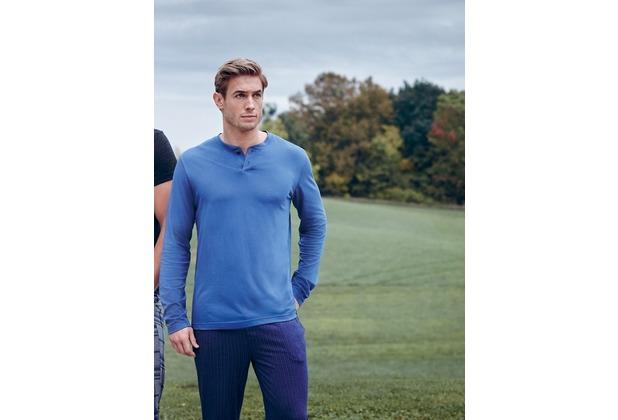 Jockey Everyday Loungewear PYJAMA 1/1 KNIT blue horizon L