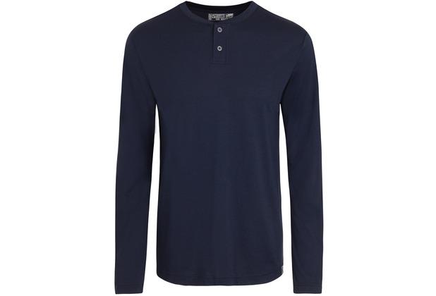 Jockey Everyday Loungewear PYJAMA 1/1 KNIT marineblau mit Knöpfen L