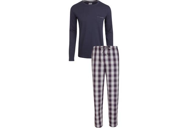 Jockey Langer Schlafanzug Mix, Marineblau 98