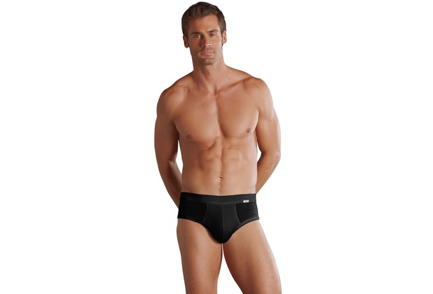 Jockey Luxury Cotton High Rise Brief / Poco mit Weichgummibund black S
