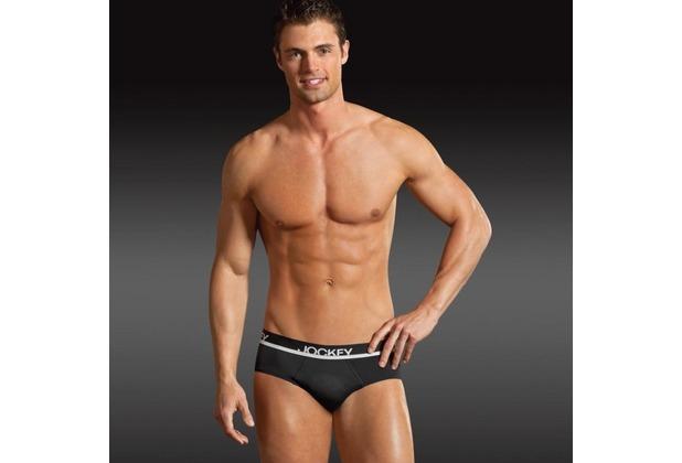 "Jockey Microfiber Retro Brief/Slip mit Webgummibund und ""Molded Pouch\"" Technology black S"
