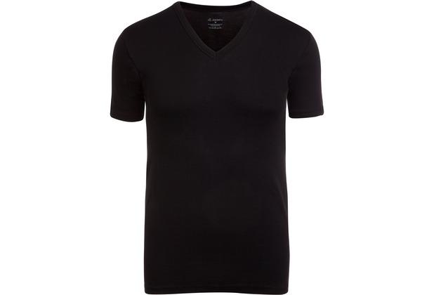 Jockey Modern Classic V-Ausschnitt T-Shirt im Doppelpack mit Frackschnitt black 2XL