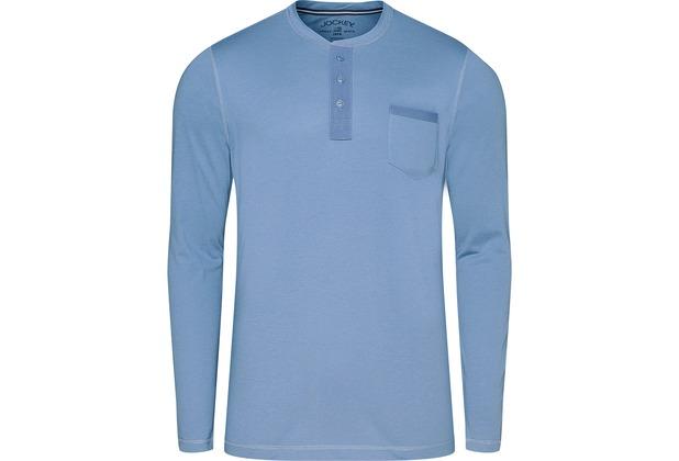 Jockey Night & Day Long Sleeve Henley Shirt denim 102