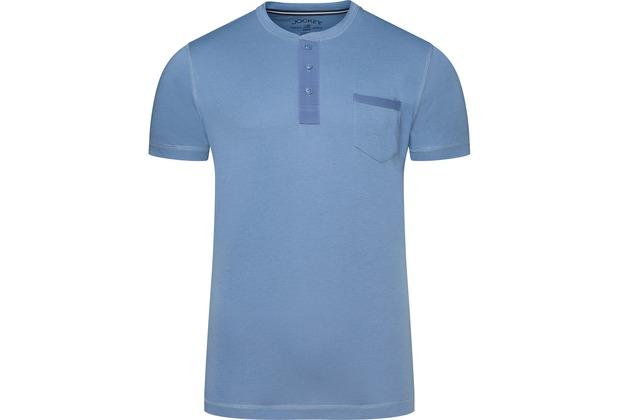 Jockey Night & Day Short Sleeve Henley Shirt denim 2XL