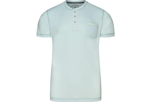 Jockey Night & Day Short Sleeve Henley Shirt illusion blu 2XL