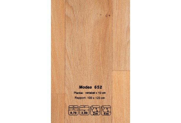 JOKA CV-Belag Modea - Farbe 652 braun 200 cm breit