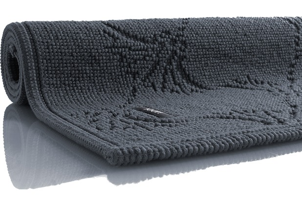 JOOP! Badezimmerteppich NEW CORNFLOWER anthrazit 70 cm x 120 cm