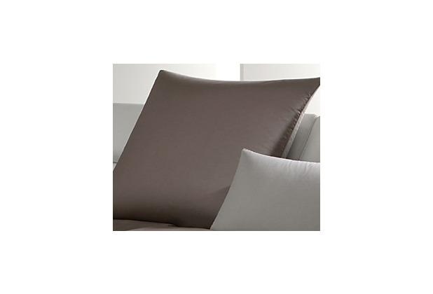 JOOP! Mako-Satin Bettwäsche Micro Pattern, falsches uni, haselnuss Nackenkissenbezug 40x40 cm