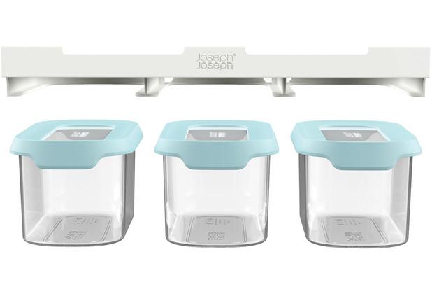 Joseph Joseph CupboardStore™ 3-teiliges Aufbewahrungsset für den Platz unter dem Regal (3 x 900 ml) - Hellblau