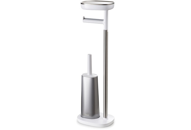 Joseph Joseph EasyStore Toilettenpapier-Stand mit Flex Steel Toilettenbürste