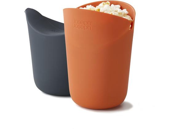 Joseph Joseph M-Cuisine - 2-teiliges Popcorn-Macher-Set - Orange/Grau