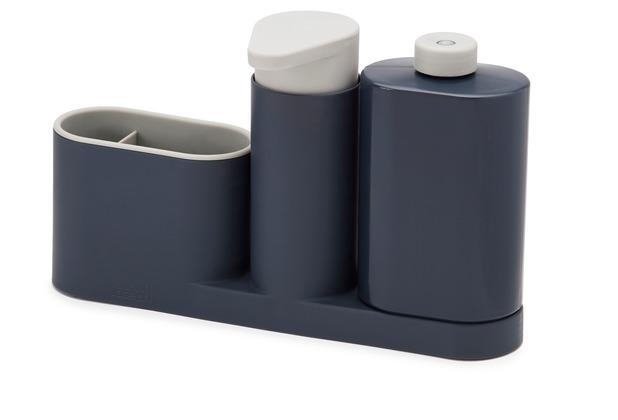 Joseph Joseph SinkBase Plus - 3-teiliges Spülbecken-Reinigungs-Set - Grau