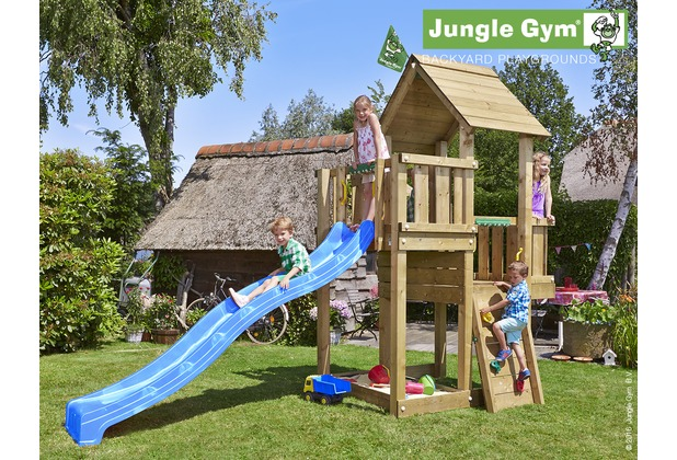 jungle gym spielturm jungle cubby mit langer wavy star rutsche mit wasseranschluss. Black Bedroom Furniture Sets. Home Design Ideas