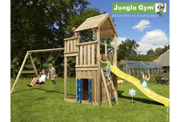 jungle gym spielturm palace spielhaus 2 schaukel mit langer wavy star rutsche mit. Black Bedroom Furniture Sets. Home Design Ideas