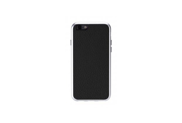Just Mobile Alu Frame Leather für iPhone 6 - schwarz