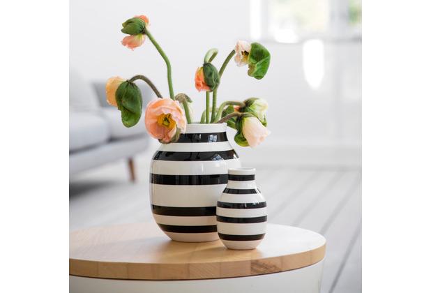 Kähler Vase Omaggio M schwarz-weiß