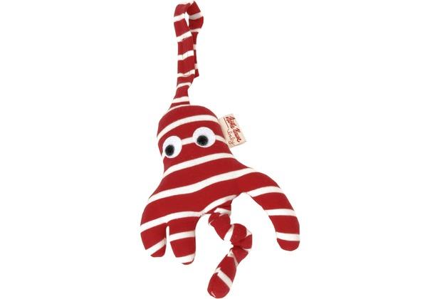 Käthe Kruse Octopussi Kindersitzanhänger rot/weiß