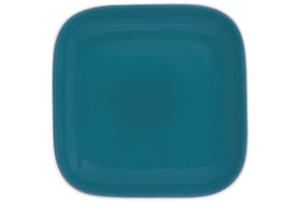 Kahla Abra Cadabra grün-blau Deckelchen eckig 10 x 10 cm