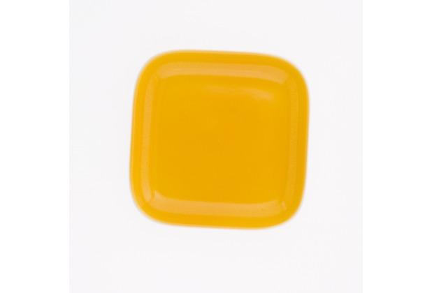 Kahla Abra Cadabra orange-gelb Deckelchen eckig 10 x 10 cm