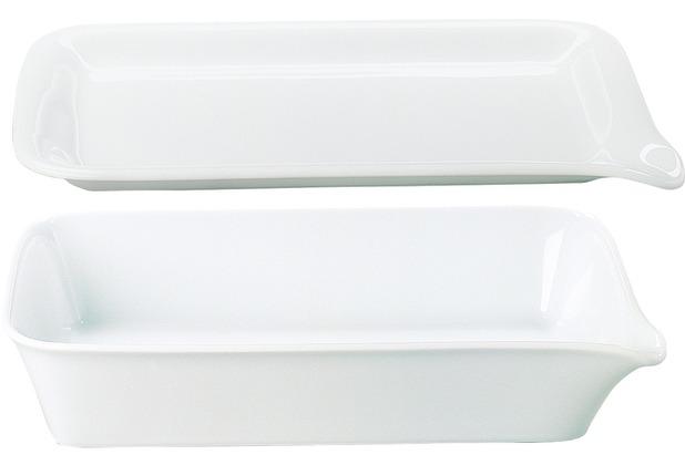 Kahla BBQ Grillservierschale + Platte 28x19 cm weiß