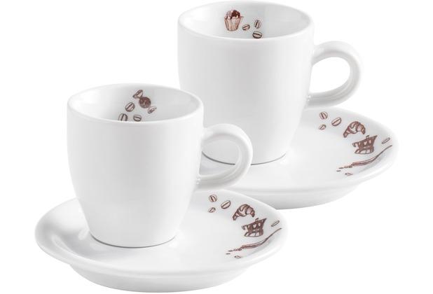 Kahla Café Sommelier 2.0 Espresso Doppio Set 4tlg. Mon Plaisir