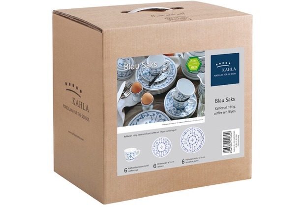 Kahla Comodo Kaffee-Set 18tlg. Blau Saks