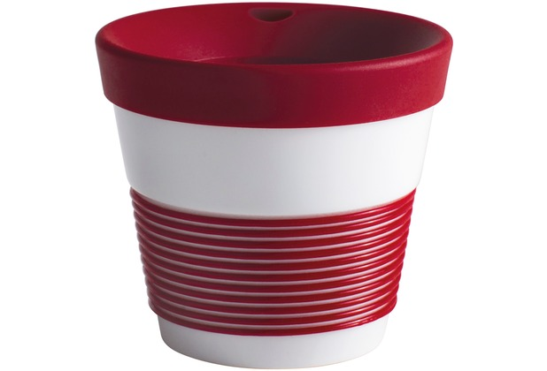 Kahla cupit Becher 0,23 l + Trinkdeckel 10x2 cm Magic Grip dark cherry