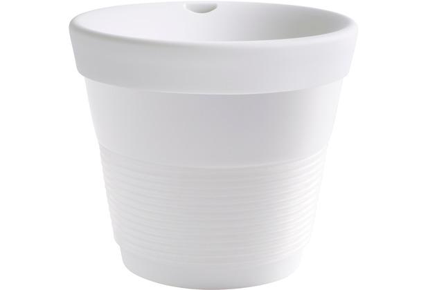 Kahla cupit Becher 0,23 l + Trinkdeckel 10x2 cm Magic Grip porcelain white