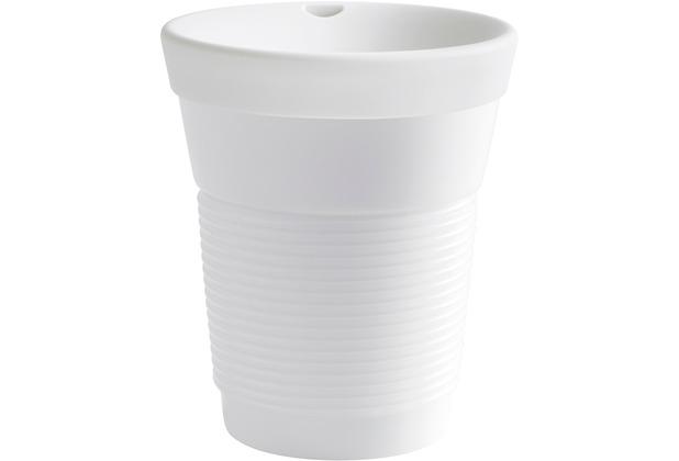 Kahla cupit Becher 0,35 l + Trinkdeckel 10x2 cm Magic Grip porcelain white