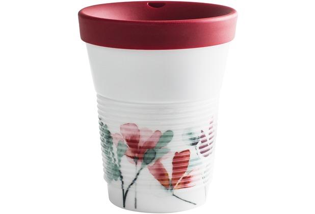 Kahla cupit Becher 0,35 l + Trinkdeckel 10x2 cm MG porcelain white+Heyday