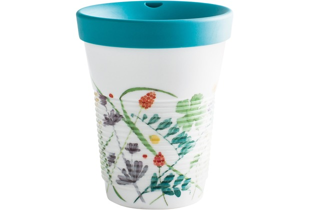 Kahla cupit Becher 0,35 l + Trinkdeckel 10x2 cm MG porcelain white+Moon Meadow