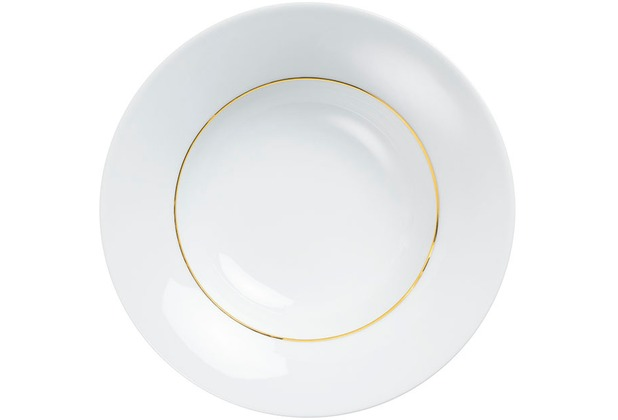Kahla Dîner Suppenteller 24 cm Line of Gold