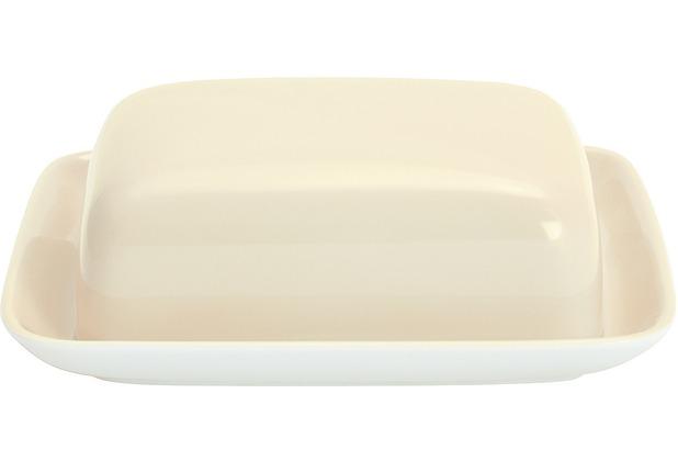Kahla Einzelteile Butterdose, eckig elfenbein