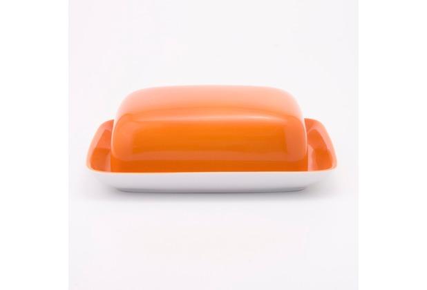 Kahla Einzelteile Butterdose, eckig orange